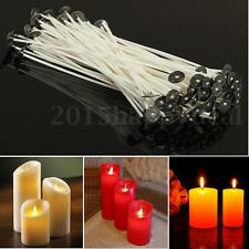 100Pcs Pre Waxed Candle Wicks for Candle Making With Sustainers - 80mm 8cm Long