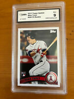 MIKE TROUT 💥 2011 TOPPS UPDATE #US175  Graded 9 Mint ROOKIE BEAUTIFUL CARD 🔥
