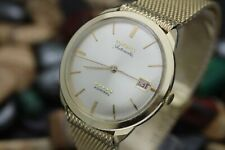 Vintage LOGNGINES Admiral 5 Star Automatic 14K Solid Yellow Gold Watch FULL SET