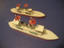 Great New Deal! * Antique Wood Putz Pair Toy Ships Of The Line * Japan 1930s