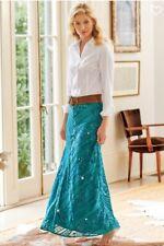Soft Surroundings Mirromere Turquoise Skirt Petite Small