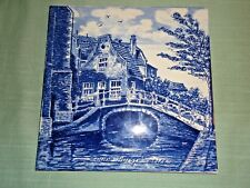 Old Delft Blawu Holland Olide Huisje Hanging Wall Tile