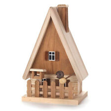 Wooden Log Cabin House Incense Burner Smoker Made In Germany