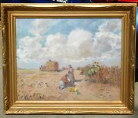 Vintage oil on canvas, mystery artist, signed 25 x 30