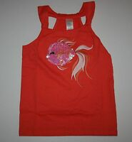 NEW Gymboree Cute on the Coast Coral Sparkle Gold fish Tank Top NWT  7 Girls