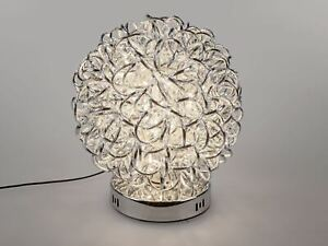 Formano Lampe Kugel Draht silber 30 cm Deko Leuchte auf Fuß 60 LED