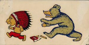 UC Cal Berkeley v Stanford Original 40's Big Game Decal vtg NCAA Bears Indians