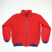 Vintage 90s Patagonia Fleece Jacket Red & Blue Full Zip USA Made Mens XL