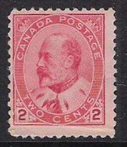 Canada 2¢ Carmine, Type II 1903 Edward VII Sc #90, F, MNH, CV $40.00 - dw18m