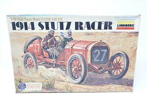 1977 LINDBERG 1914 STUTZ RACER 1/16 SCALE OPEN BOX UNBUILT
