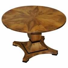RARE LARGE CIRCA 1825 SOUTH GERMAN BIEDERMEIER WALNUT DINING OR CENTRE TABLE