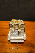 Olivia Riegel Crystal & Enamel Pave Gift Box Stocking Holder New in Box