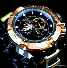 Invicta Subaqua Noma V Rose Gold Plated Black Silver Chronograph Swiss Watch New