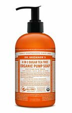 DR BRONNER`S ORGANIC 4-in-1 TEA TREE PUMP SOAP 356ml - FAIRTRADE