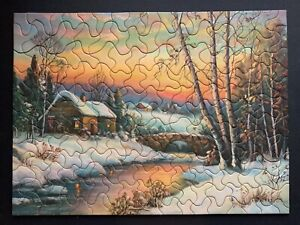 "Vintage TUCO Deluxe Picture Puzzle ""IN MID-WINTER""  Complete 12""x16"""