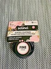 Scunci Fine Hair Elastics Comes with 8 Pieces (Elastics) - Black