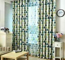 Curtains Window Blackout Sheer Tulle Panel Triangle Patterned Home Decor Curtain