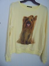 Wildfox Couture GRANNY'S DOG  Jumper/Pullover Yellow  Sz XS   NWT