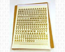 Virnex HO Decals Gold 5/16 Inches Bold Gothic Letter Set 2059 Alphabet