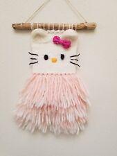 Kitty /Weaving Hand Woven Decor Wall Hanging NEW