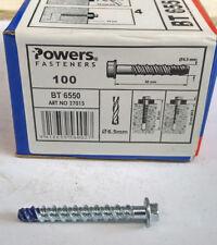 Powers Blue Tip Betonschraube verzinkt 6,5x50 100 Stück
