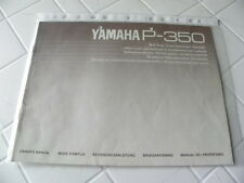 Yamaha P-350 Owner's Manual Operating Instructions Instructions New
