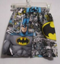 NWT Boys Swim Trunks BATMAN & LOGO Blue Yellow Gray Black Shorts SIZE S.