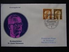 Erstagsbrief BRD Mi.-Nr. 728 Bundespräsident Gustav Heinemann - b5811