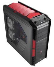 Case senza alimentatore rossi con fattore di forma ATX full per prodotti informatici
