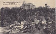 uralte AK, Gräfl. Schönburg, Schloß Rochsburg Muldental Hängebrücke b. Penig