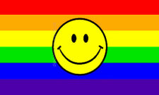 Rainbow Smile Face Smiley Flag Gay Pride Lesbian Lgbt 3x5 Polyester