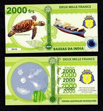 ★★★ BASSAS DA INDIA ● TAAF ● BILLET POLYMER 2000 FRANCS ★★ COLONIE FRANCAISE