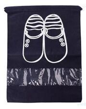 High Heel Drawstring Travel Shoe Organizer Storage Bag W/Window Dark Blue School