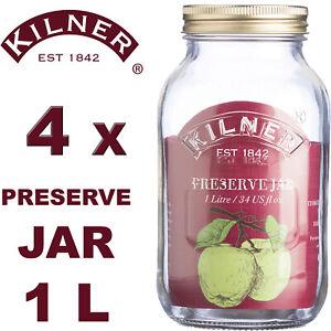 Kilner Glass Screw Top Lid Preserving Jars for Jam, Pickles, Storage & Canning