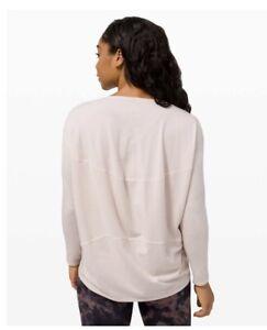 NWT Lululemon Size 6 Back In Action Long Sleeve Fheader Pink