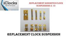 10x Brass Assorted Clock Pendulum Suspension Springs, Strike, French, Chime, UK