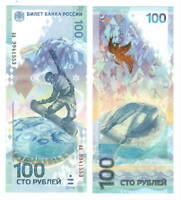 RUSSIA 100 Rubles (2014) P-274b UNC SOCHI aa Commemorative Banknote Paper Money