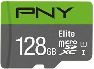 PNY Elite MicroSDXC Memory Card 100MBs Class 10 UHS-I U1 128GB