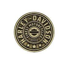 Harley Davidson /Motorradpin/Badge Farbeton Bronze/Schwarz Modell Harley Shield