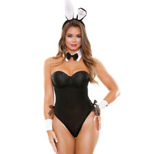 Fantasy Lingerie Hunny Bunny Costume 4 Piece Set Small to XL