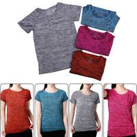 New Fashion Women Gym Sports Shirt Yoga Top Fitness Running T-shirt