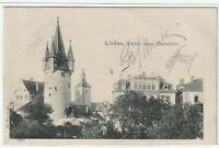 Ansichtskarte Lindau - Partie beim Diebsturm - 1903 - schwarz/weiß