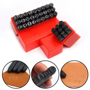 36pc Number & Letter Metal Punch Set Alphabet Mark Steel Stamp Craft Tool