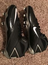 Nike Super Speed D 3/4 Mens Football Cleats Size 10.5 NEW NFL Shoes Boots Black