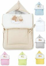 Fußsack Einschlagdecke Decke für Kinderwagen Babyschale & Maxi Cosi Baumwolle