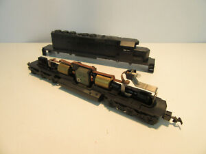 Athearn HO Scale Undecorated SD40-2 Diesel Locomotive with Dual Flywheels.