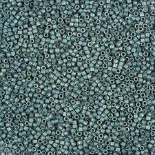 Miyuki Delica Seed Beads Size 11/0 (1.6mm) Galvanised Matt Dark Aqua 7.2g (B78/9
