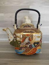 Japanese Satsuma Tea pot - big model - signed on the bottom - teepot