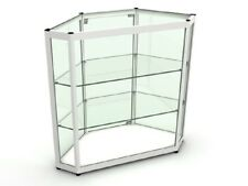 1X Glass See Through Display Showcase Cabinet 907x381x870mm
