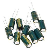 10Pcs 10V 3300UF Motherboard Electrolytic Capacitor Radial Q9D7